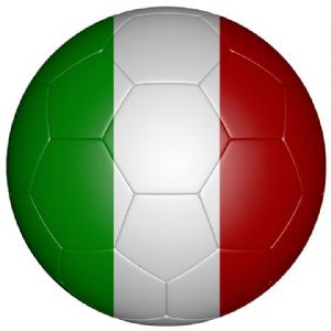 Italy Football Flag 58mm Mirror